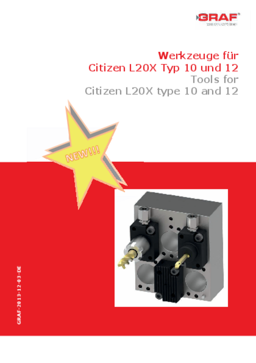 catalog Tools for Citizen L20X type 10 and 12