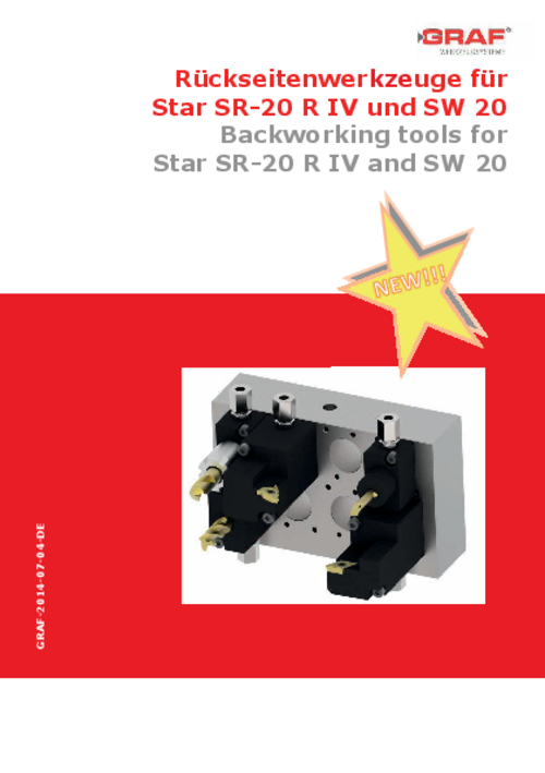 catalog Backworking Tools for Star SR-20 R IV and SW 20