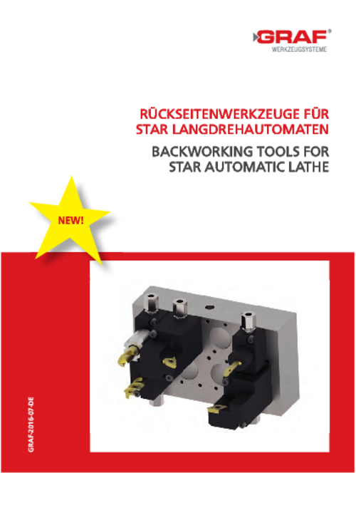catalog Backworking Tools for Star Automatic Lathe