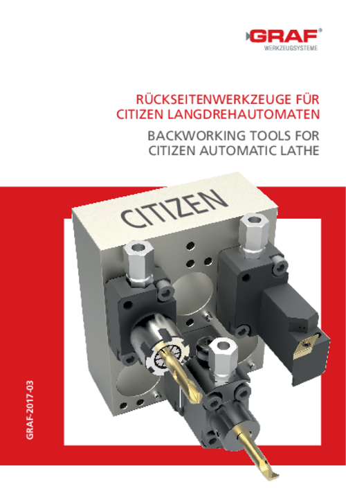 catalog Back working Tools for Citizen Automatic Lathe