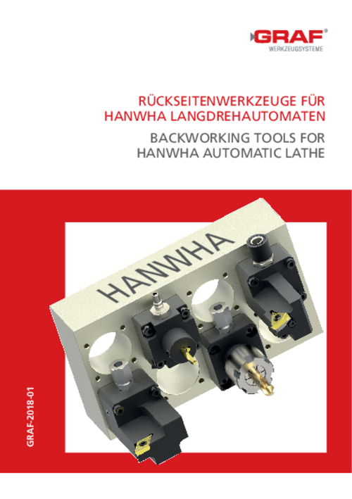 catalog Back working Tools for Hanwha Automatic Lathe